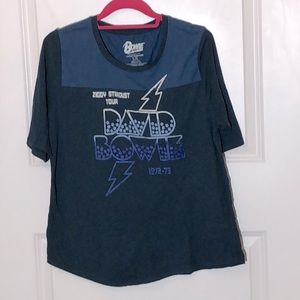 Lucky Brand David Bowie Graphic Band Tee
